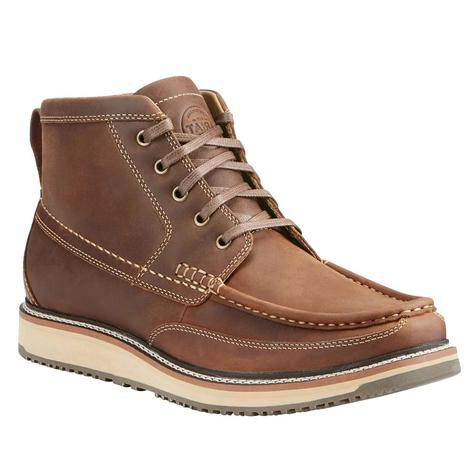 Ariat Mens Lookout Foothill Brown Lace Up Shoes