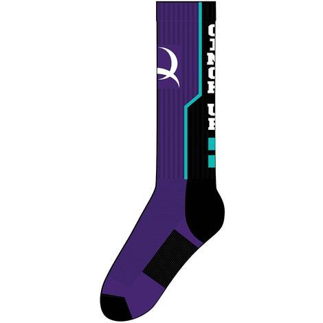 Cinch Mens Purple Crew Sock