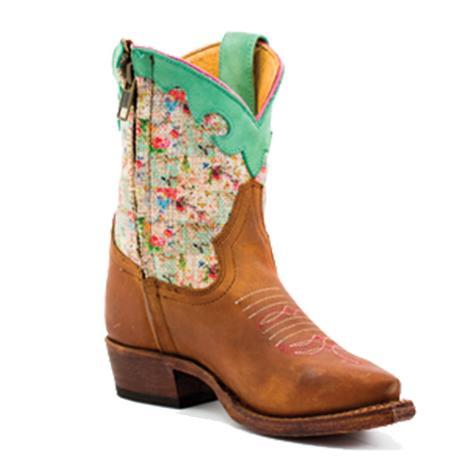 Macie Bean Kids Multi Color Floral Print Top Boots ... 29281191c83c