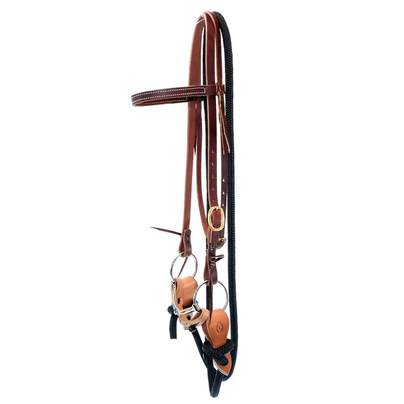 Stt Yacht Rope Training Bridle With Copper Loose- Ring Snaffle