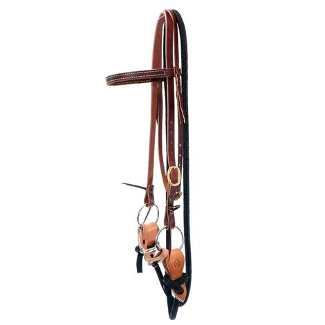 STT Yacht Rope Training Bridle with Copper Loose-Ring Snaffle