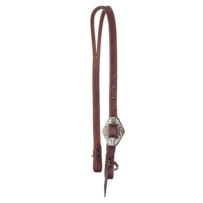 Stt Premium Leather Hex Buckle Split Ear Headstall 3/4