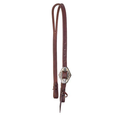 STT Premium Leather Hex Buckle Split Ear Headstall 3/4