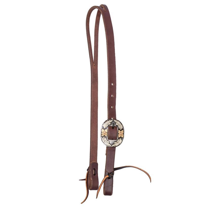 Stt Premium Leather Oval Buckle Slip Ear Headstall 3/4