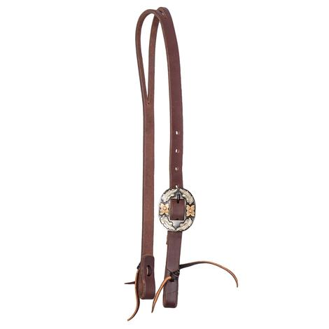 STT Premium Leather Oval Buckle Slip Ear Headstall 3/4