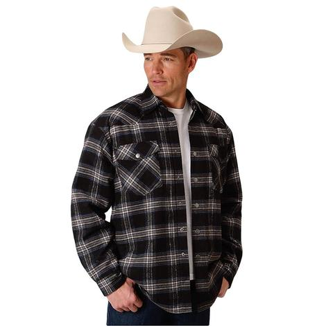 Roper Mens Assorted Plaid Shirt Jacket