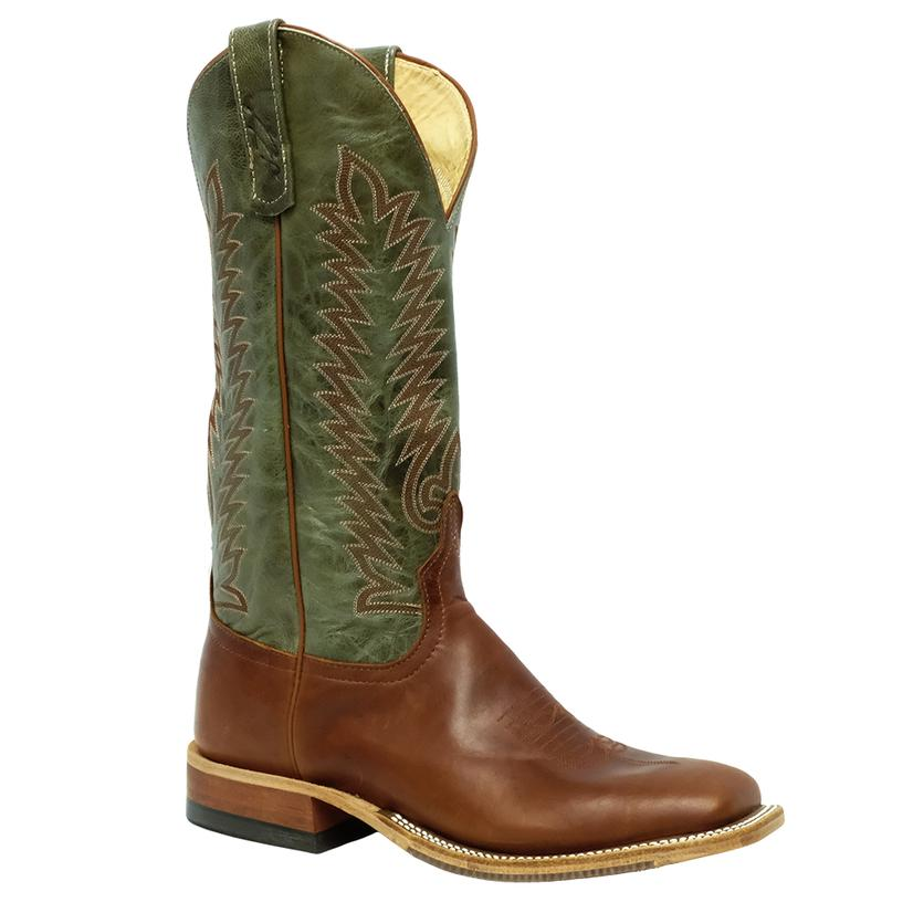 Anderson Bean Mens Redwood Polished Grass Explosion Boots