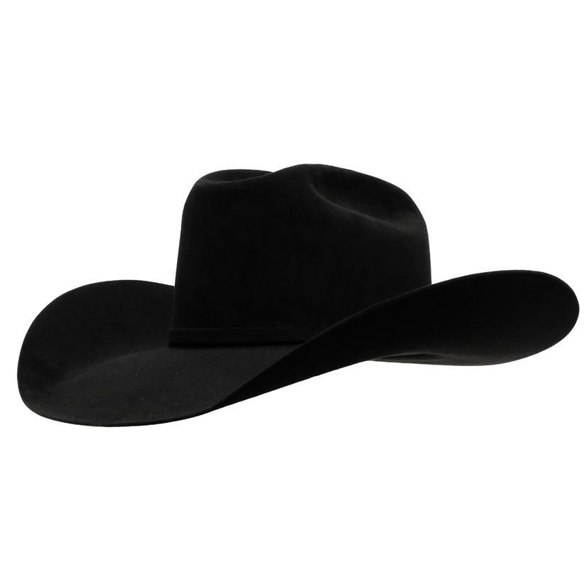 American Hat Company 10x Black Open Crown Felt Cowboy Hat