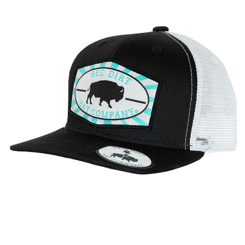 Red Dirt Black White Teal Buffalo Youth Cap