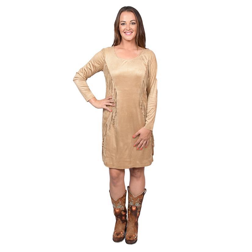 Ariat Womens Woodland Light Tan Fringed Dress