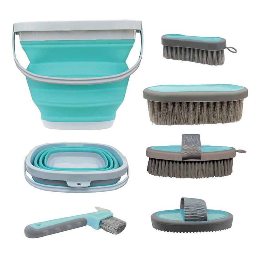 Tail Tamer Grooming Kit W/Collapsible Bucket - Mint