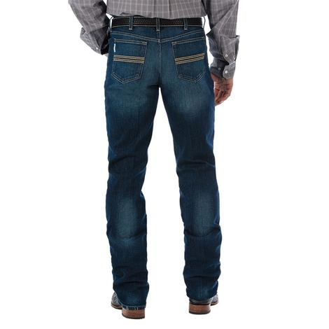Cinch Mens Dark Stonewash Silver Label Jeans