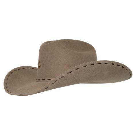 Charlie 1 Horse Buck Snort Stitch Stone Felt Hat