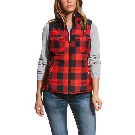 Ariat Women's Salsa Buffalo Plaid Country Vest