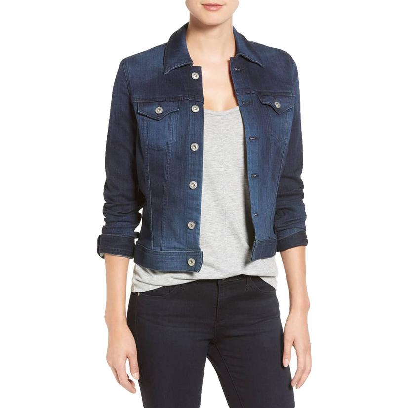Adriano Goldschmied Women's Robyn Jacket Torrent Blue Denim