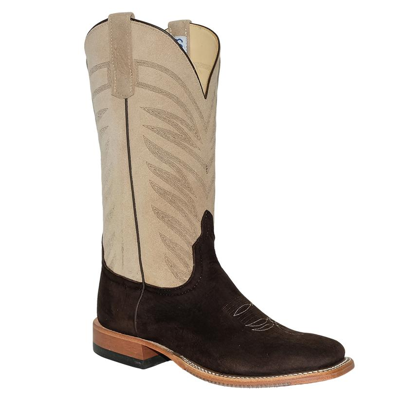 Anderson Bean Ivory Chocolate Burnt Skunk Suede Men's Boots