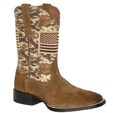 Ariat American Flag Sand Camo Print Men's Boots