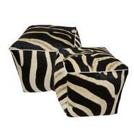 Zebra Cube Ottoman - Single