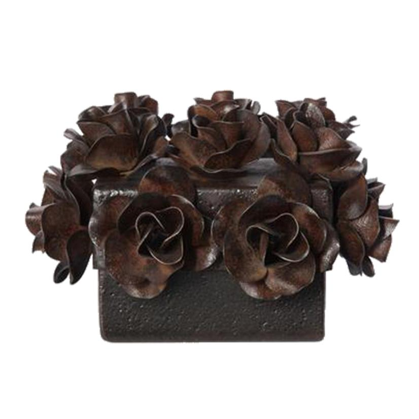 Flores Box With Forged Iron Roses