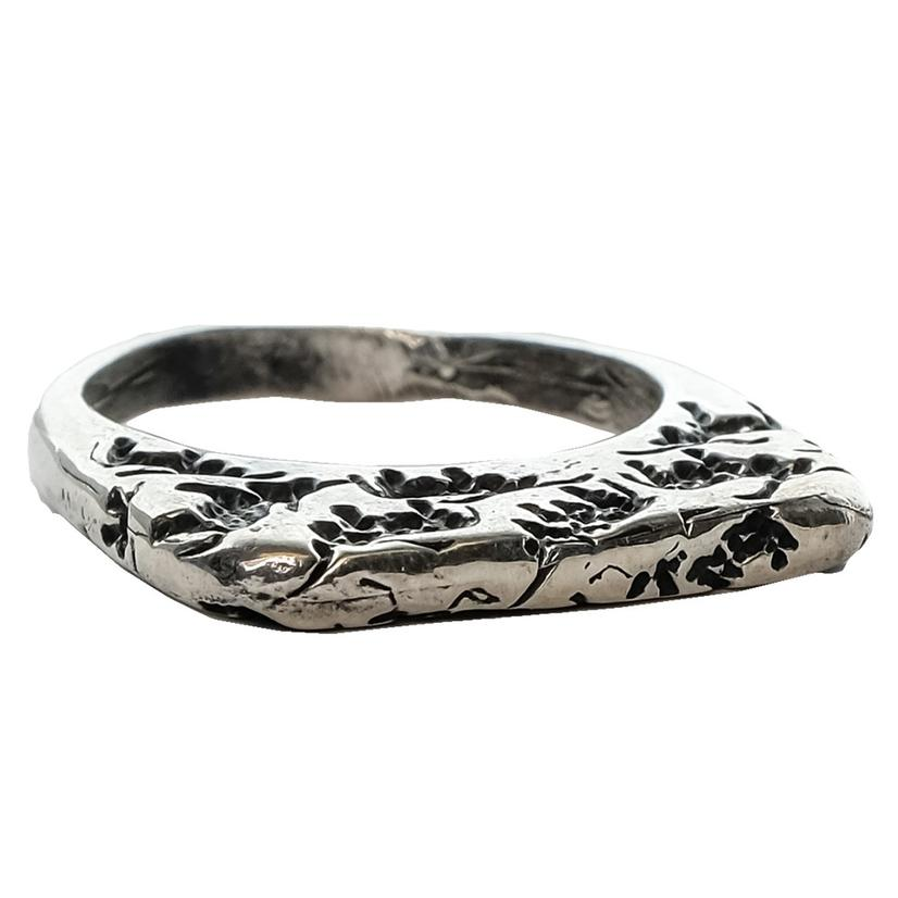 Silver Longhorn Stacker Ring