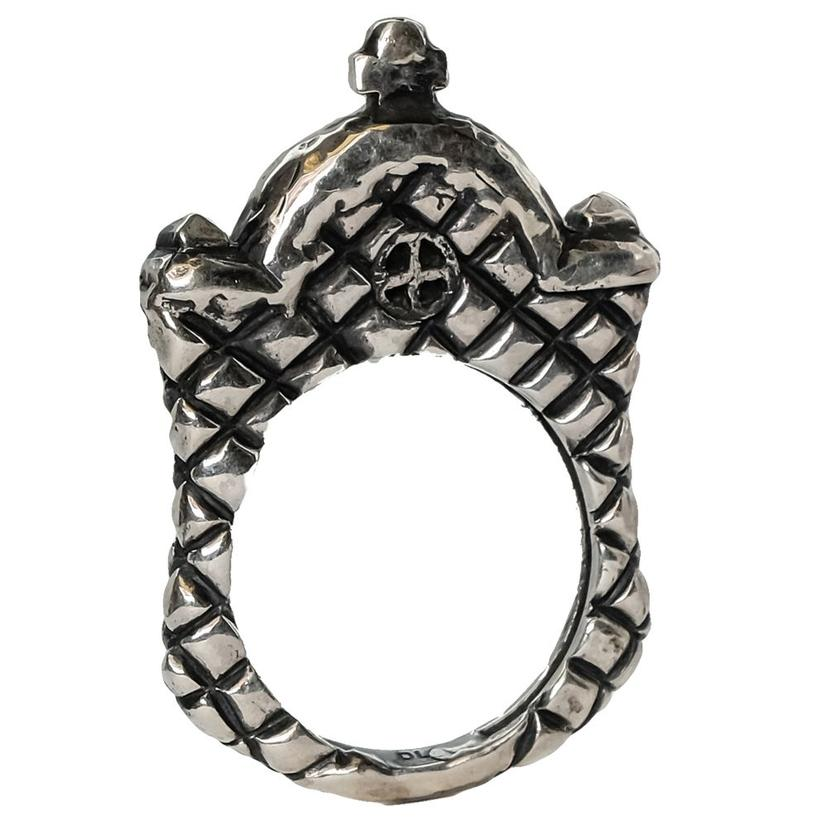 Silver Mission Front Stacker Ring