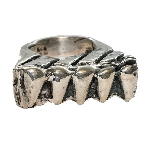 Silver Chevron Stacker Ring
