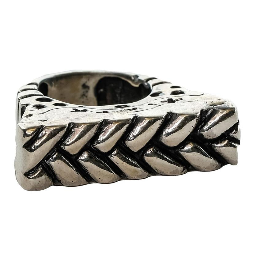 Silver Double Weave Stacker Ring