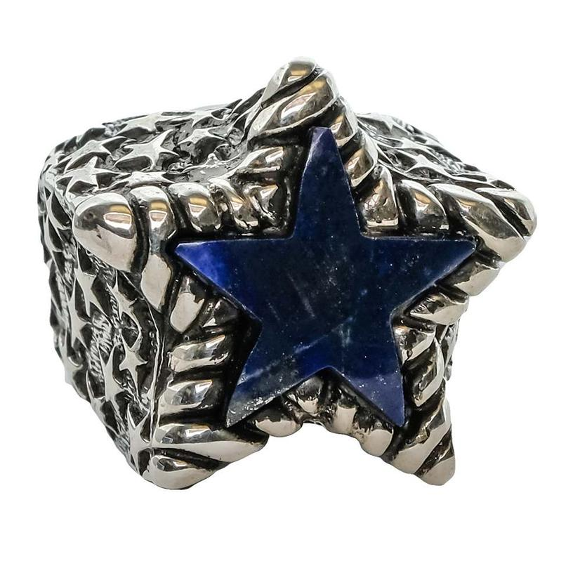Silver Lapiz Star Ring