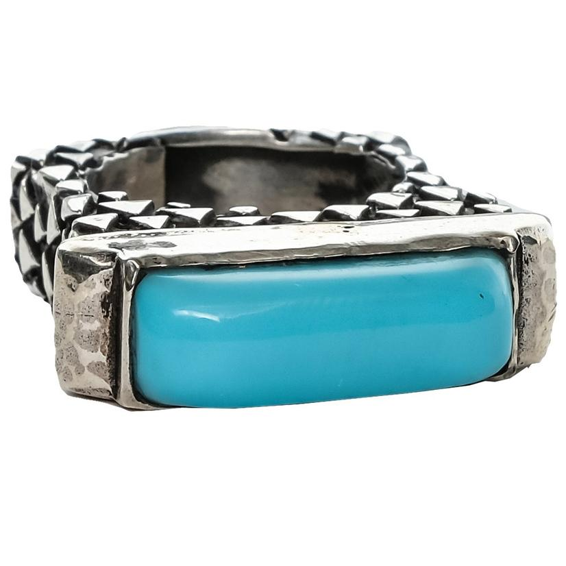 Silver Turquoise Stacker Ring