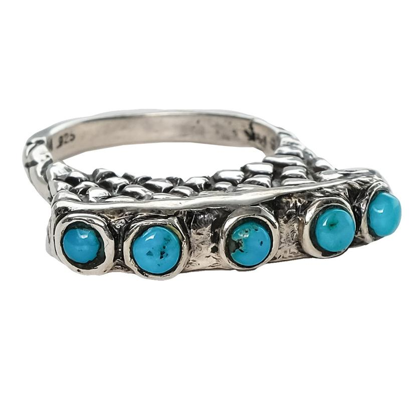 Silver Blue Turquoise Ring