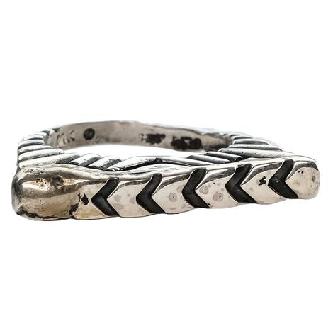 Silver Arrow Stacker Ring