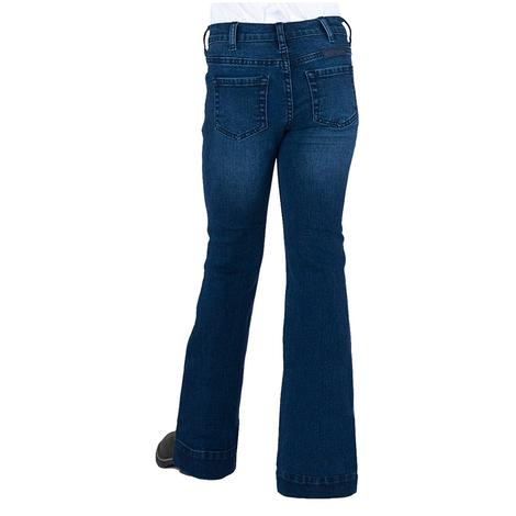 Cowgirl Tuff Girls Dark Wash Trouser Jeans