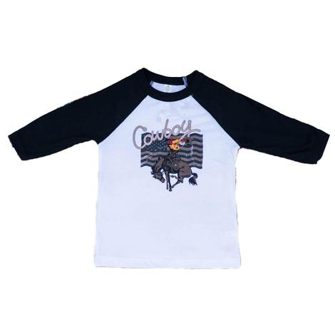Rodeo Quincy Toddler Cowboy Baseball Tee