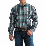 Cinch Men's Plaid Long Sleeve Button Down Shirt