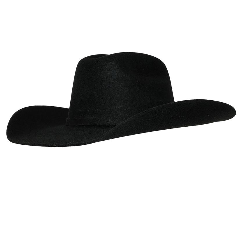 Ariat Kids Wool Black Felt Hat - Precreased