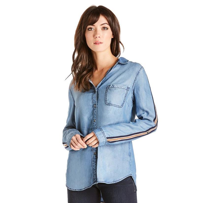 Dear John Denim Women's Frankie Long Sleeve Shirt With Stripe
