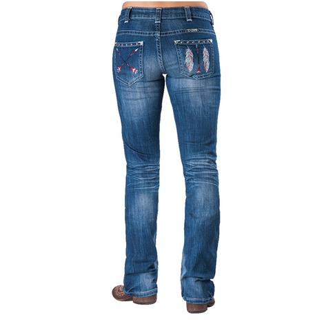 Cowgirl Tuff Women's Free Spirit Feather Arrow Jean