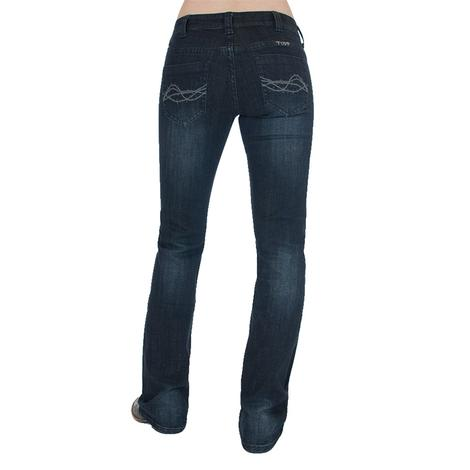 Cowgirl Tuff Women's Forever Tuff Dark Wash Denim Jeans