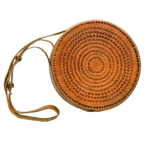 Lupe Hand Tooled Leather Purse