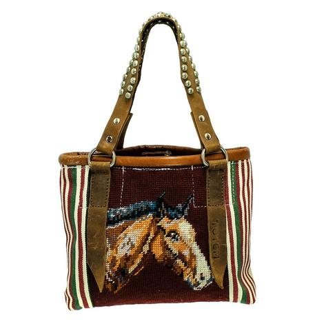 Horse Head Mini Tote with Bling Strap