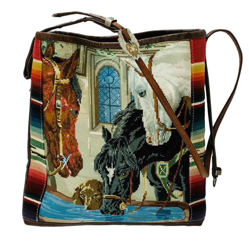 3 Horse Waterhole Serape Bag
