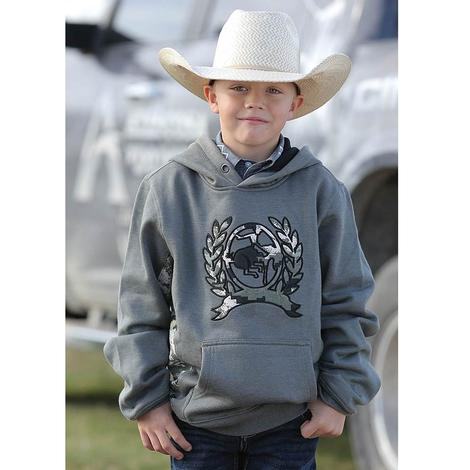 Cinch Grey Hoodie Camo Boy's Pullover