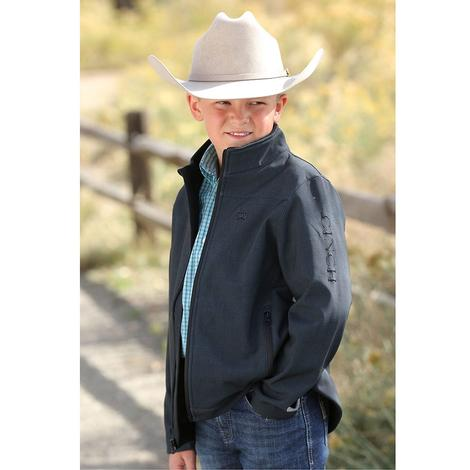 Cinch Black Bonded Logo Boy's Jacket