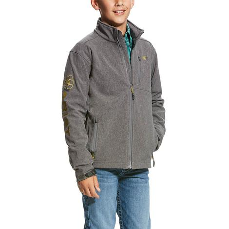 Ariat Charcoal Logo Softshell Boy's Jacket