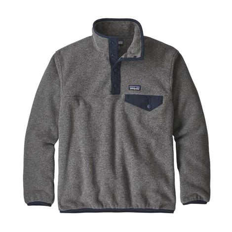 Patagonia Nickel Navy Blue Quarter Snap Boy's Pullover