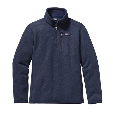 Patagonia Better Sweater Boy's Navy Blue Quarter Zip Pullover
