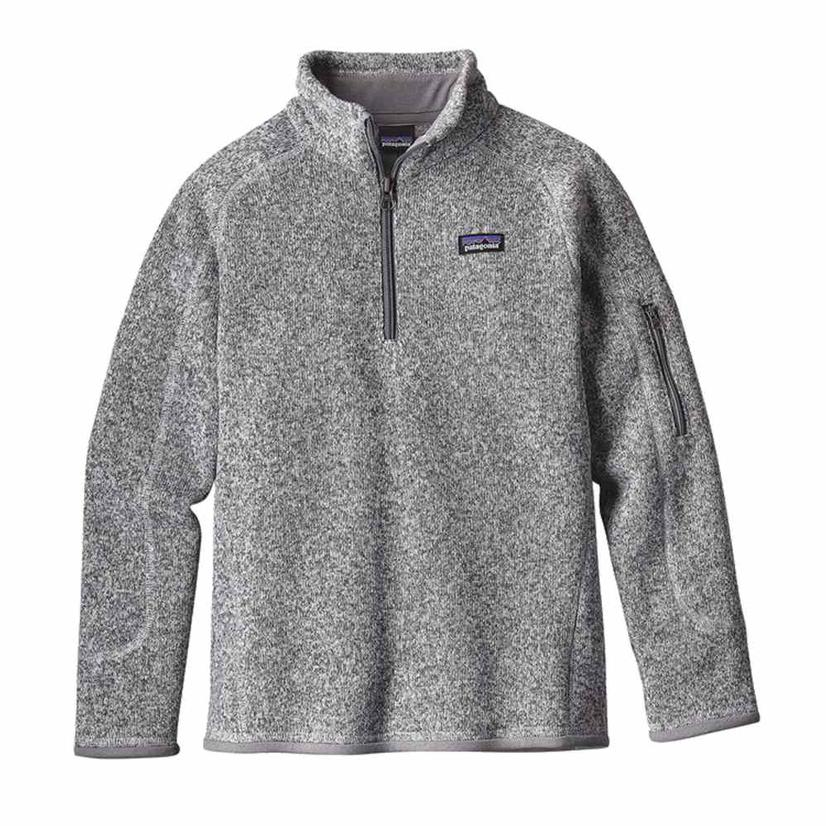 Patagonia Better Sweater Quarter Zip Grey Girl's Pullover