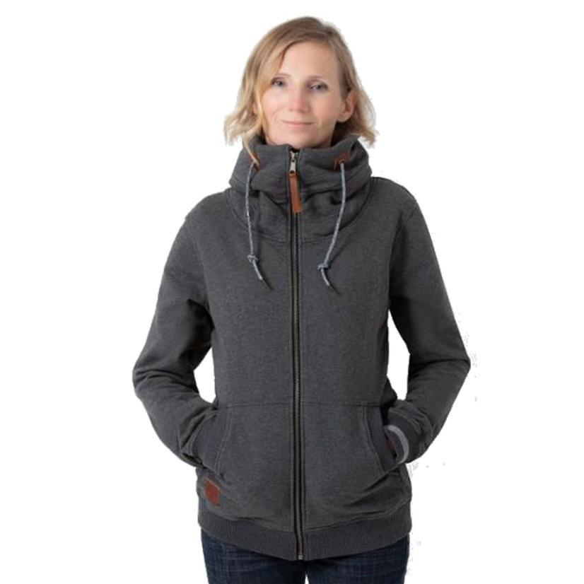 Kimes Ranch Stow Away Fleece Heather Grey Women's Jacket