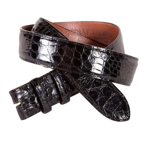 STT Genuine Black Caiman Semi Gloss Men's Belt