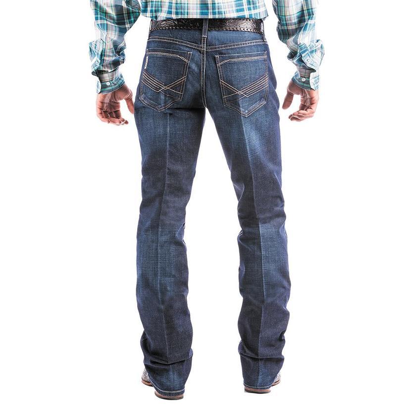 Cinch Ian Dark Wash Mid Rise Slim Bootcut Men's Jeans